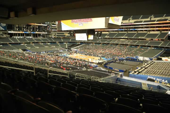 Basketball Seat View for AT&T Stadium Section 204
