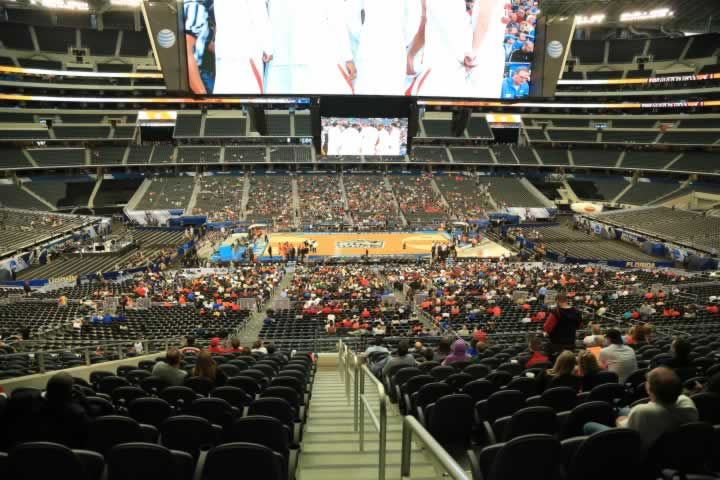 Basketball Seat View for AT&T Stadium Section C210
