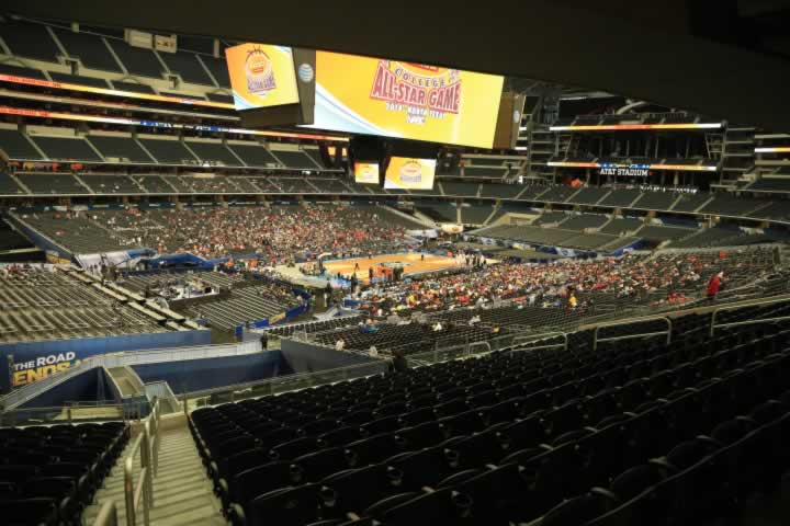 Basketball Seat View for AT&T Stadium Section 216