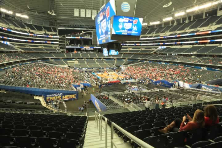 Basketball Seat View for AT&T Stadium Section 226