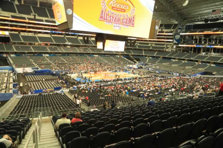 Basketball Seat View for AT&T Stadium Section C238