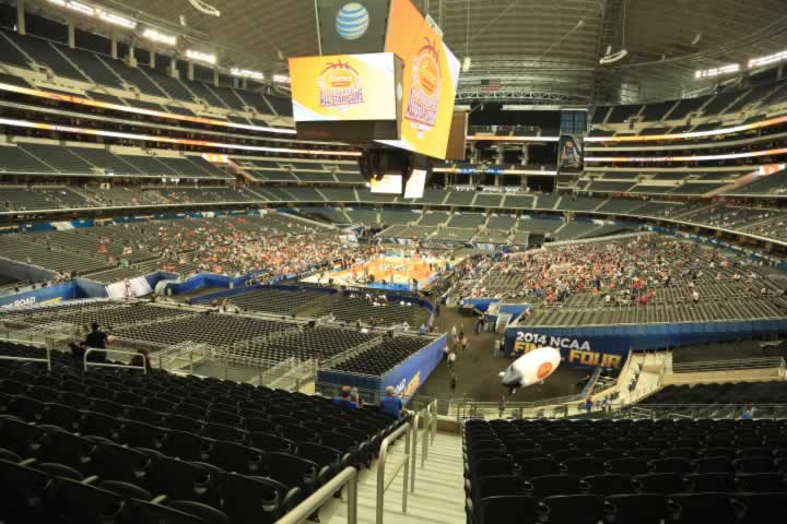 Basketball Seat View for AT&T Stadium Section 244