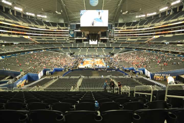 Basketball Seat View for AT&T Stadium Section 247