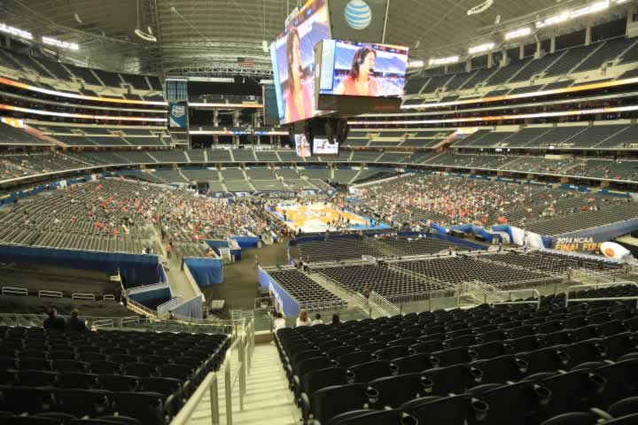 Basketball Seat View for AT&T Stadium Section 250
