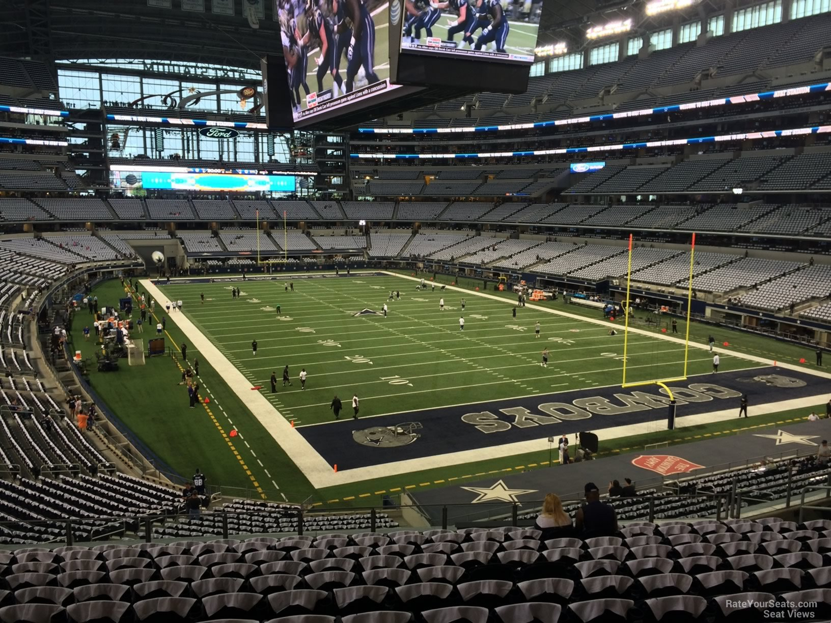 View from Section 226 Row 13 at AT&T Stadium