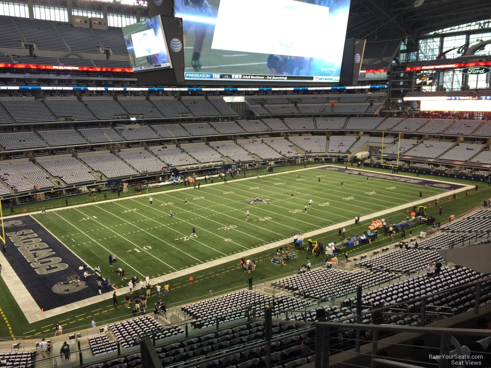 Dallas Cowboys Seat View for AT&T Stadium Section 316, Row 15