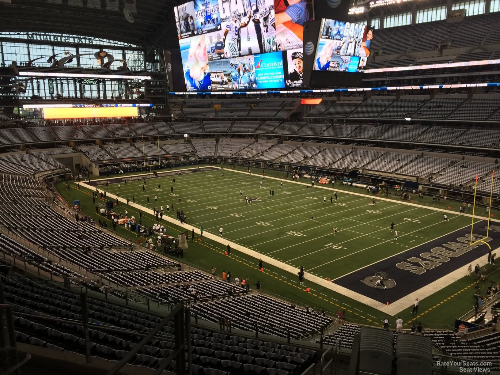 Dallas Cowboys Seat View for AT&T Stadium Section 329, ...