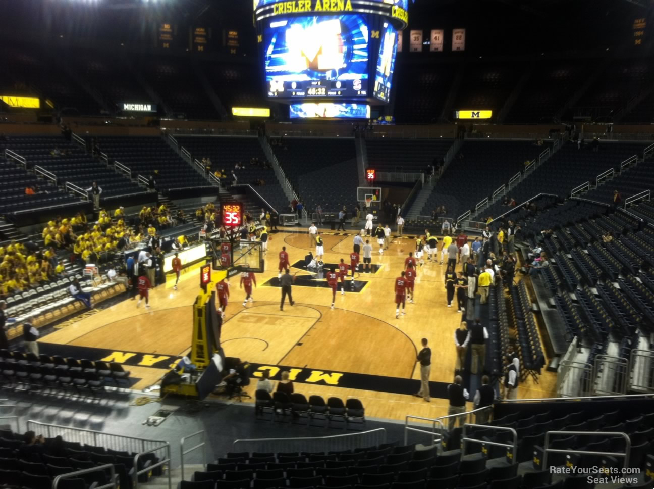 Seat View for Crisler Center Section 112, Row 16