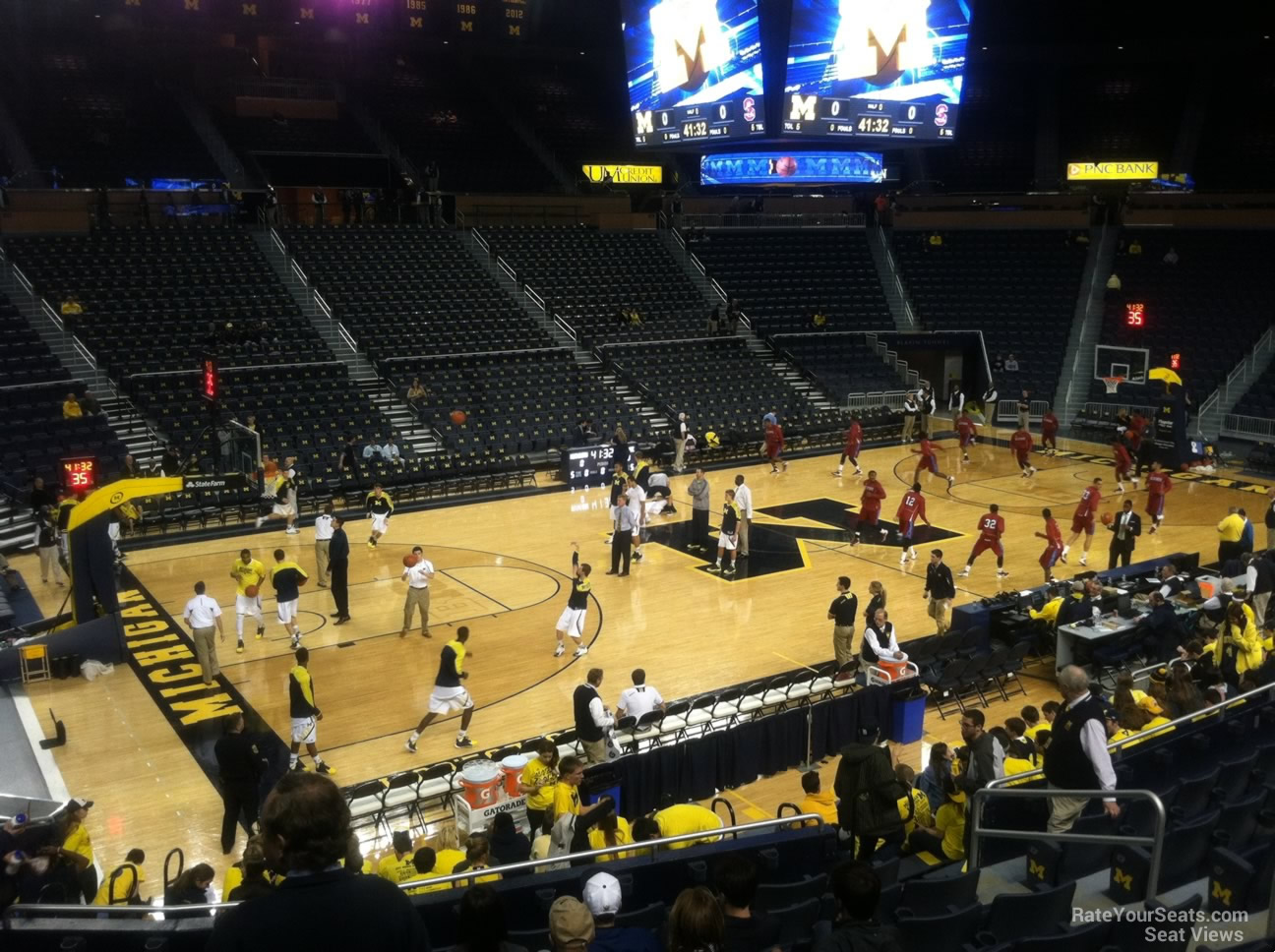Seat View for Crisler Center Section 126, Row 16
