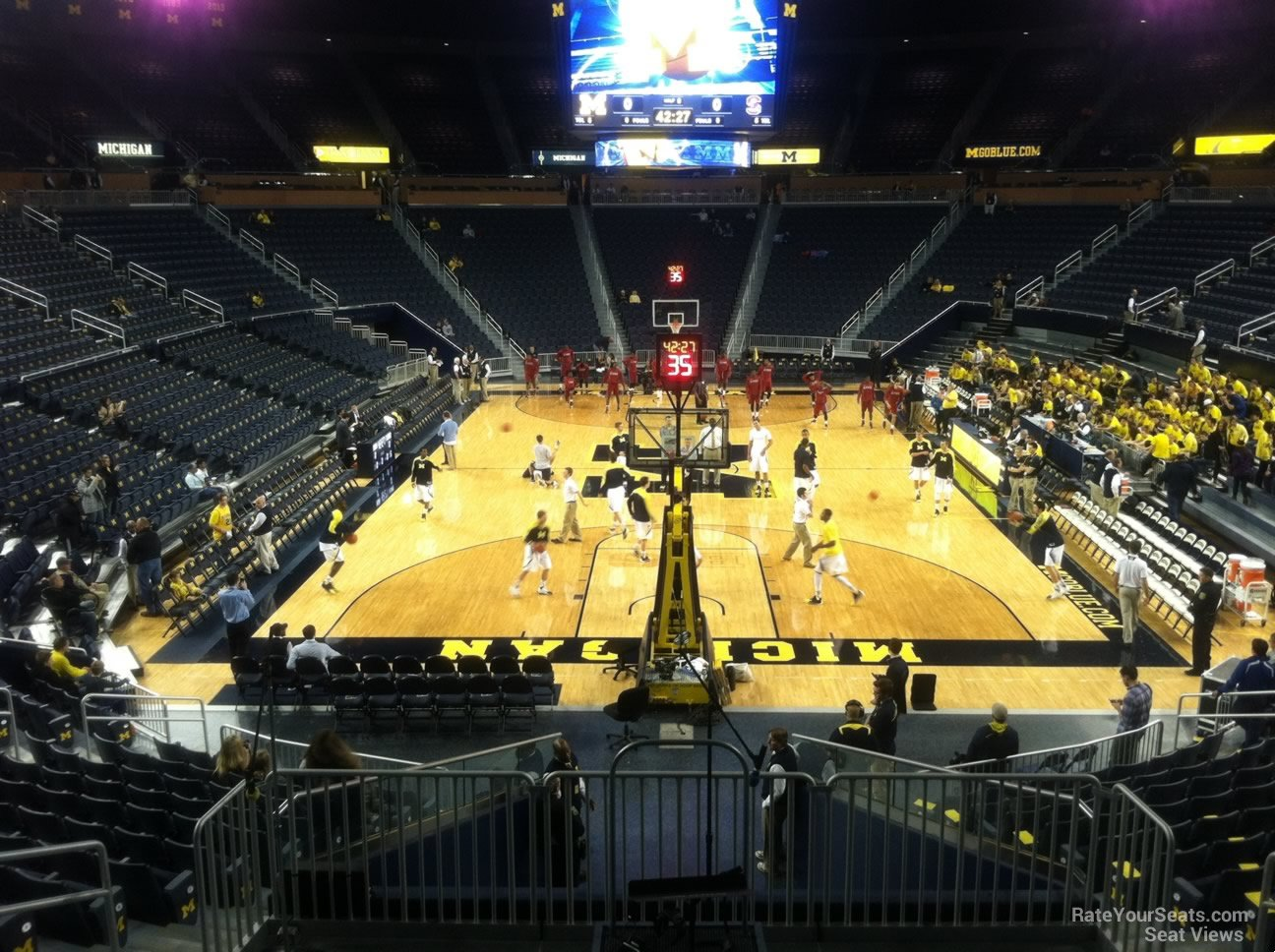 Seat View for Crisler Center Section 132, Row 16