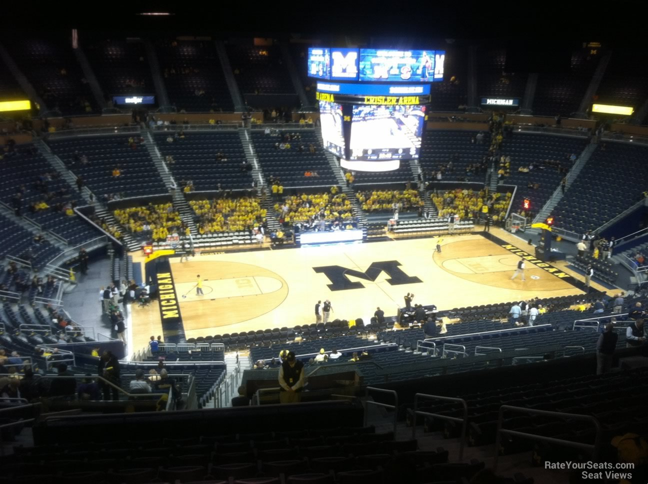Seat View for Crisler Center Section 206, Row 38