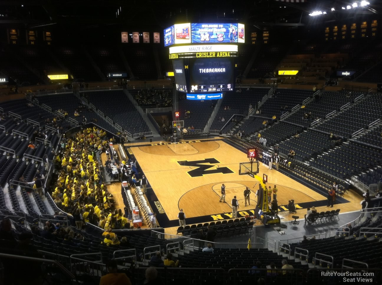 Seat View for Crisler Center Section 216, Row 38