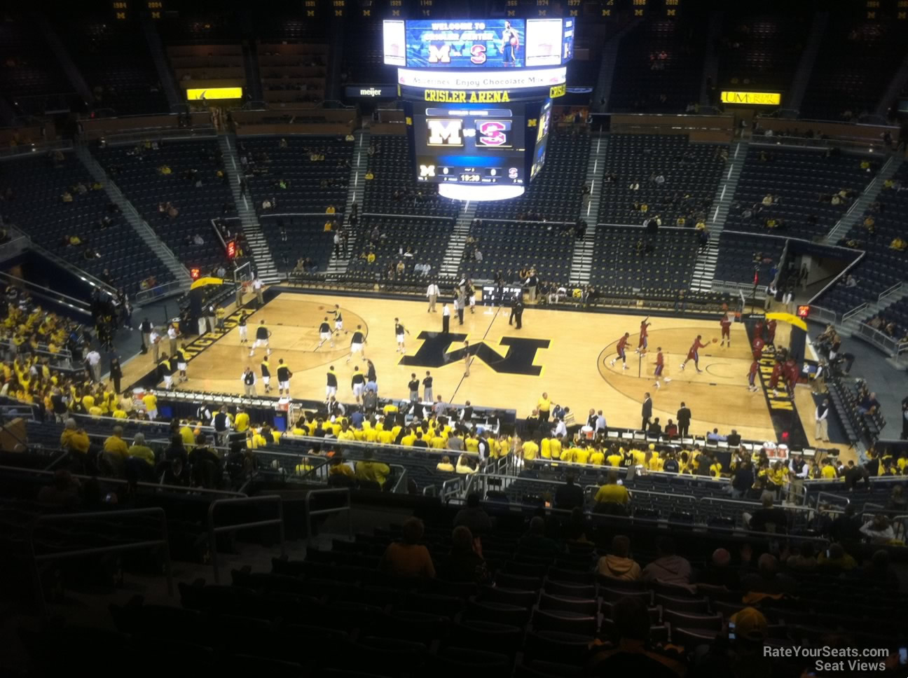 Seat View for Crisler Center Section 222, Row 38