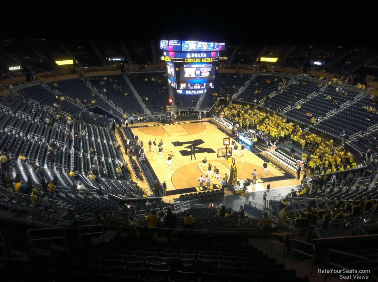 Seat View for Crisler Center Section 234, Row 38
