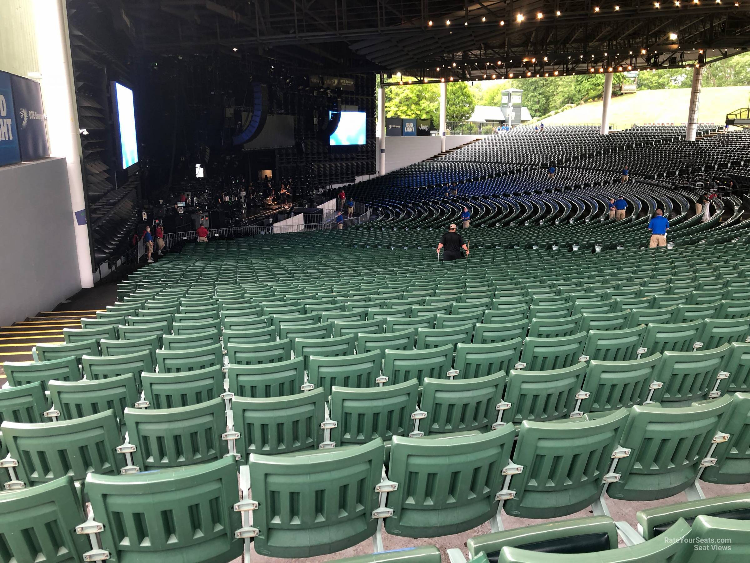 Concert Seat View For Dte Energy Music Theatre Left 9 Row Tt