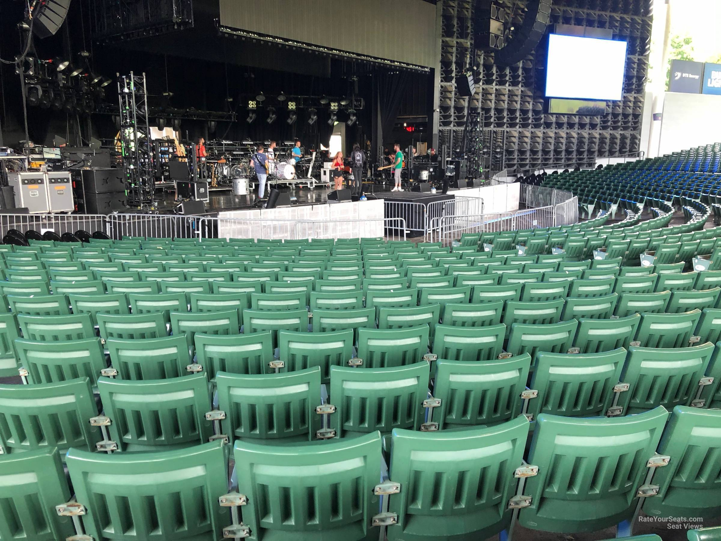 Concert Seat View For Dte Energy Music Theatre Left Center 3 Row P