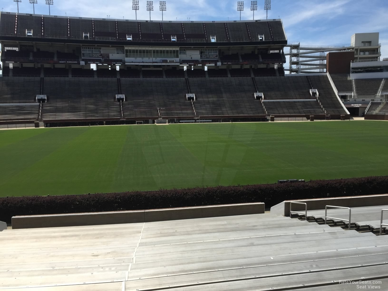 Seat View for Davis Wade Stadium Section 21, Row 22
