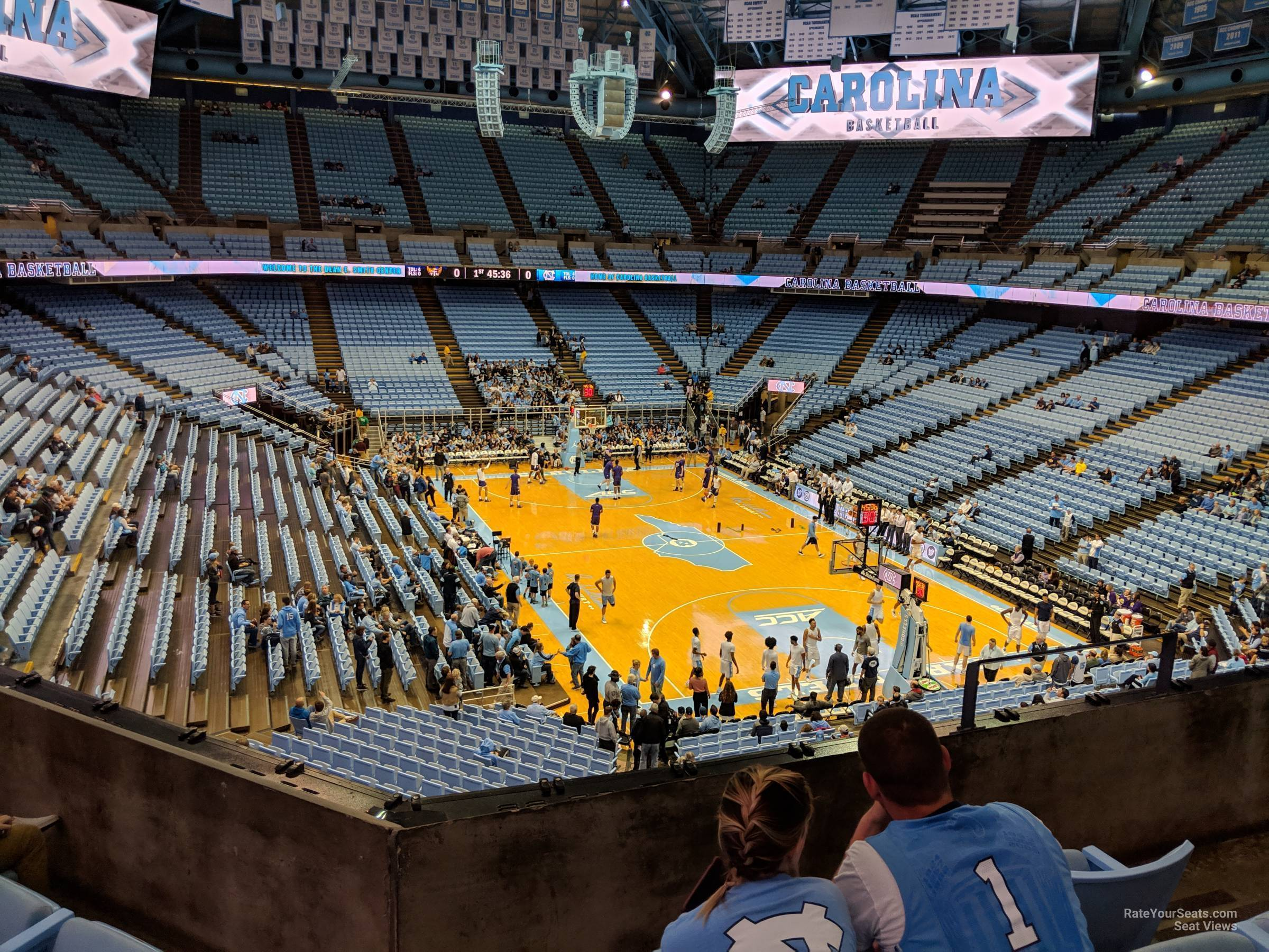 Seat View for Dean Smith Center Section 232, Row C