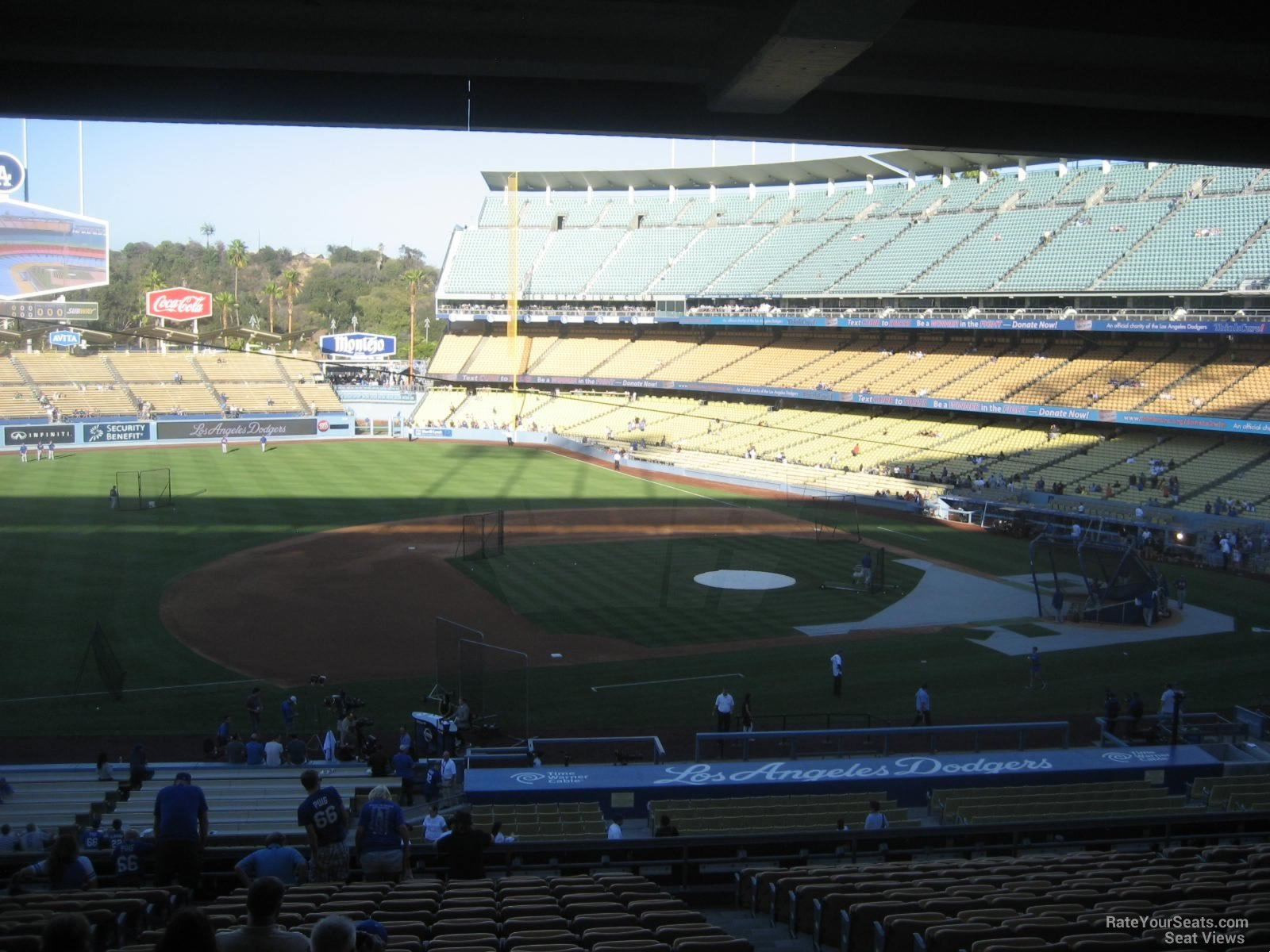 View from Section 137 Row T at Dodger Stadium