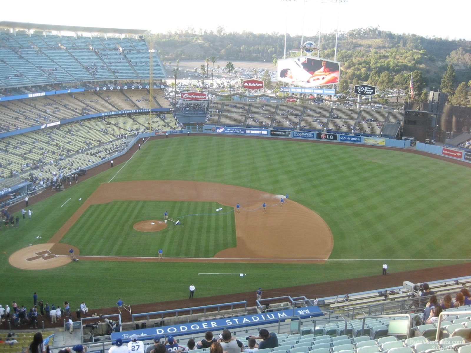 Dodger Stadium Section 16 Row T on 8 22 2014k