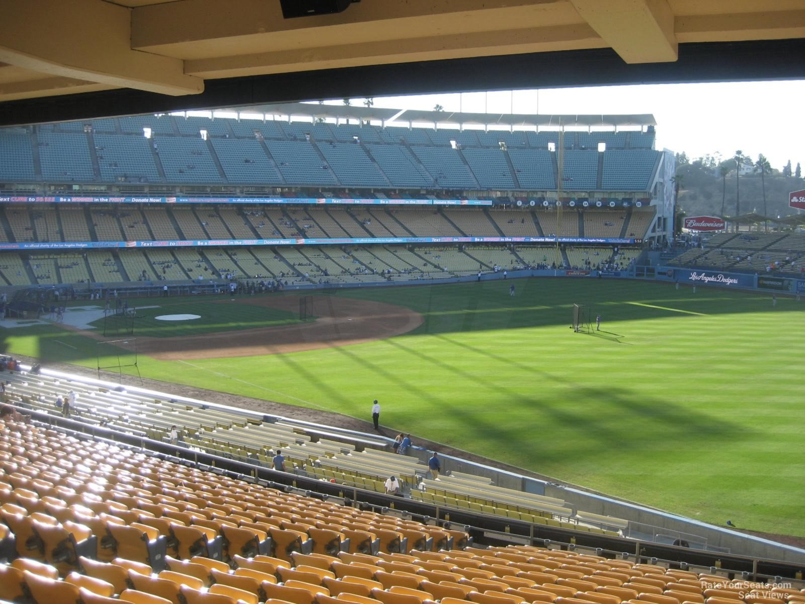 Dodger Stadium Section 160 Row T on 8 22 2014k