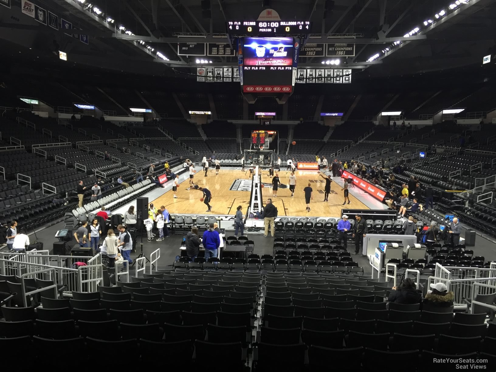 Seat View for Dunkin Donuts Center Section 101 Row D