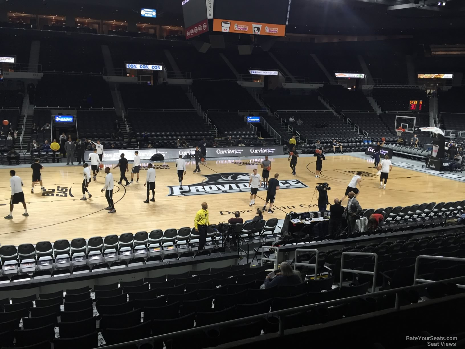 Seat View for Dunkin Donuts Center Section 109 Row D