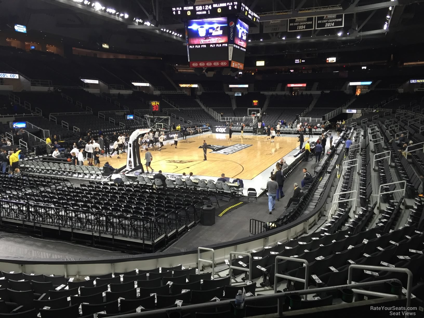 Seat View for Dunkin Donuts Center Section 113 Row D