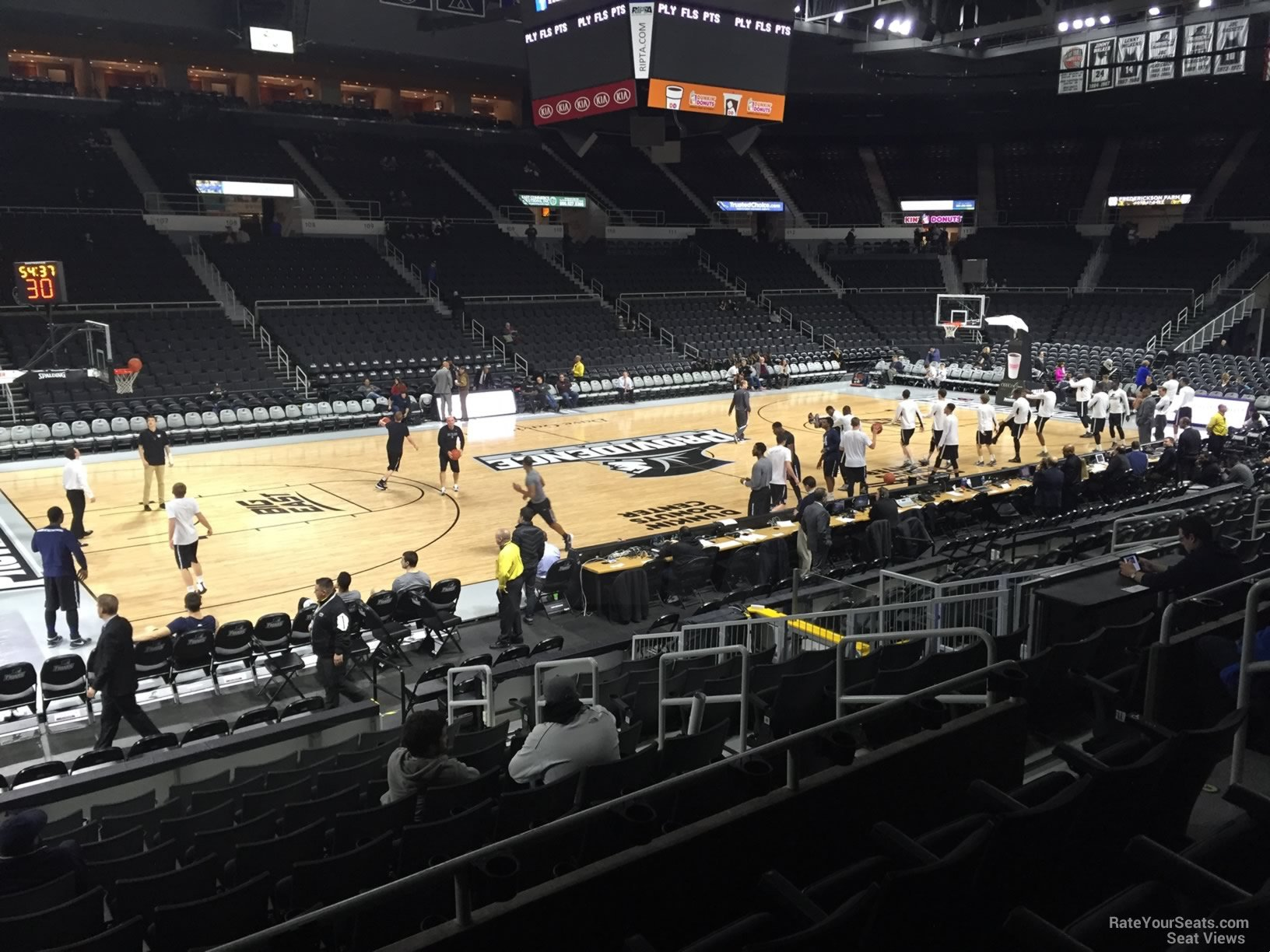 Seat View For Dunkin Donuts Center Section 124 Row D