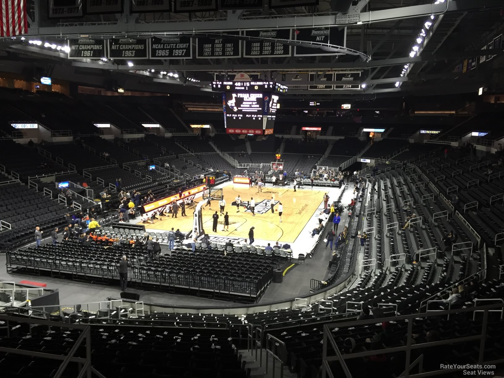 Seat View For Dunkin Donuts Center Section 219 Row F