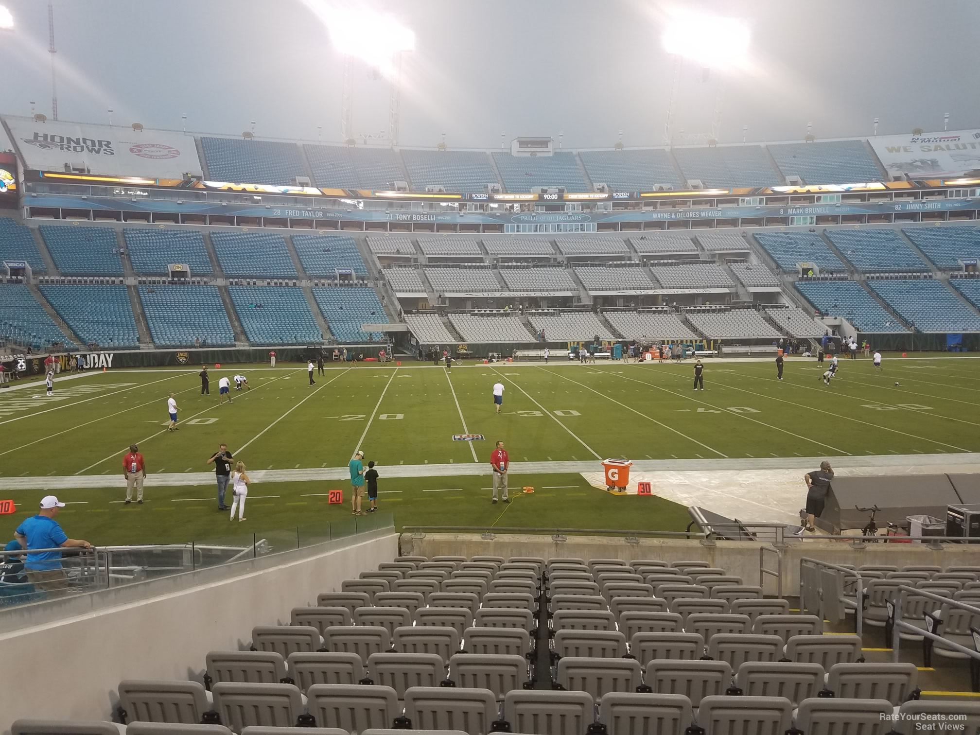 Seat View for TIAA Bank Field Club 39, Row P