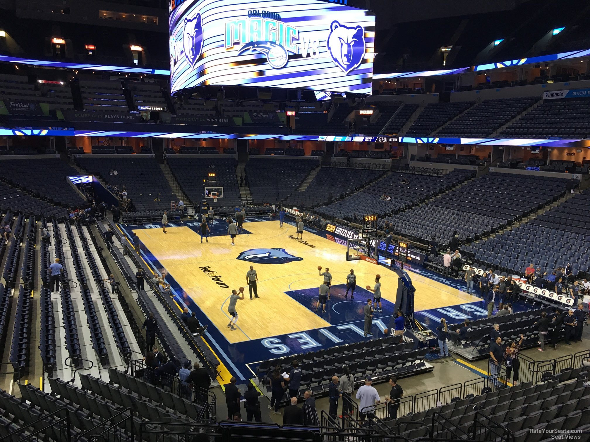 Seat View for FedEx Forum Section 117, Row R