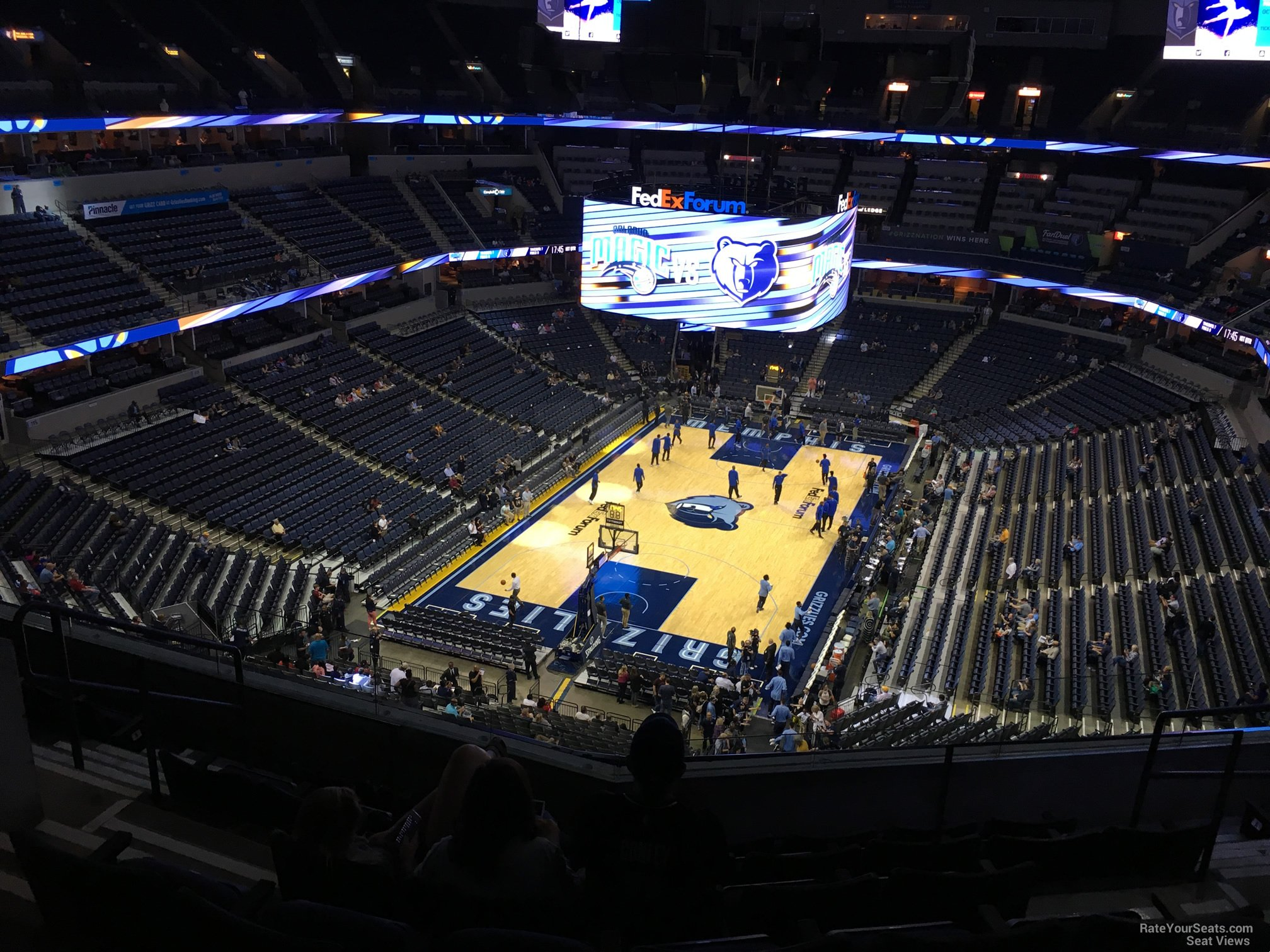 Seat View for FedEx Forum Section 202, Row F