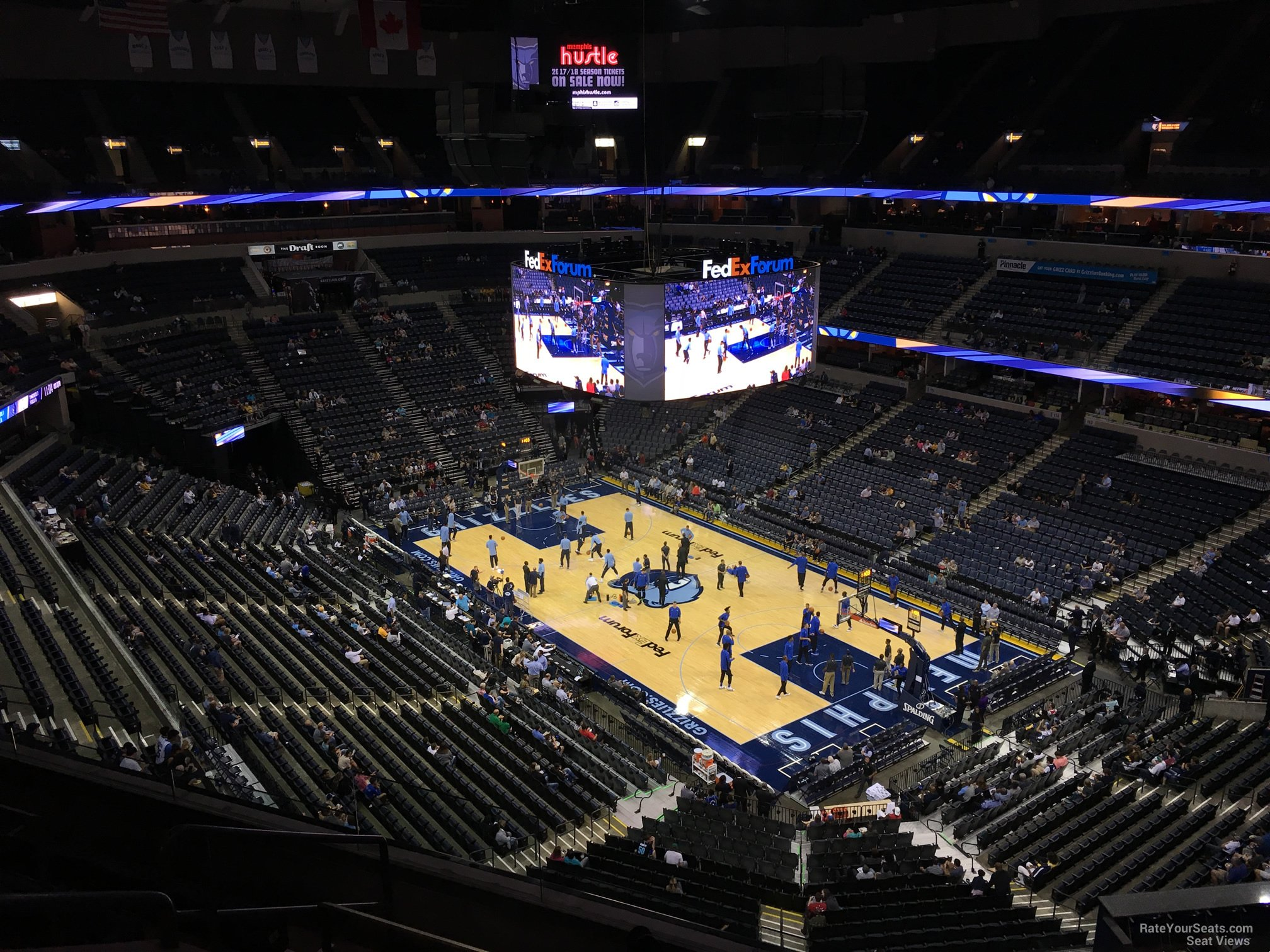 Seat View for FedEx Forum Section 213, Row F