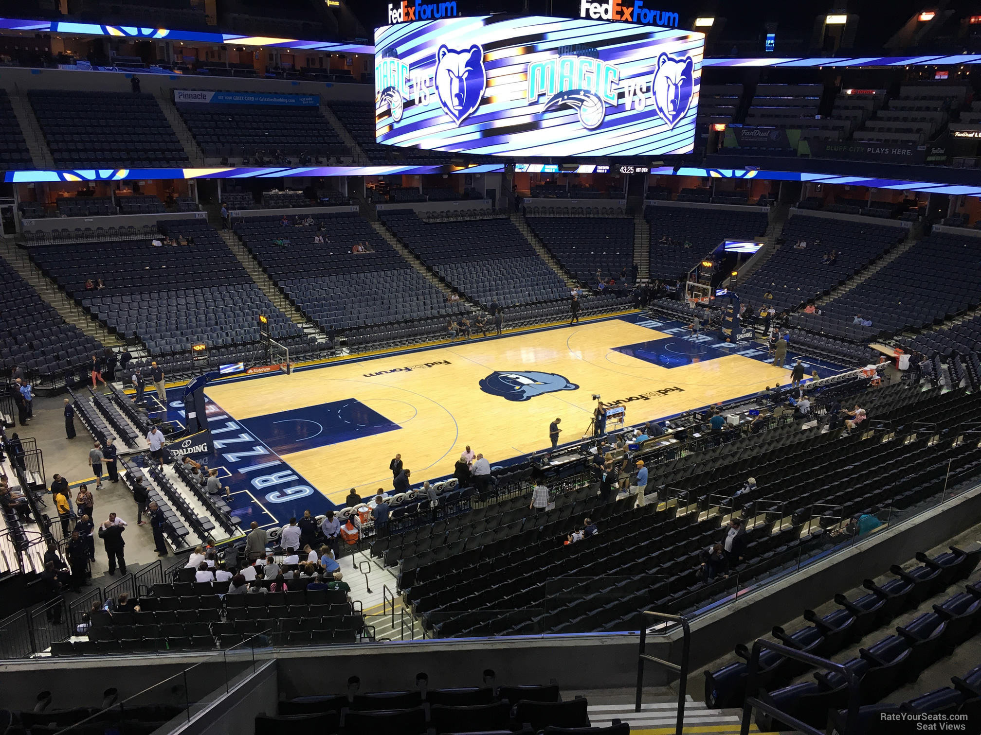 Seat View for FedEx Forum Section P1, Row H