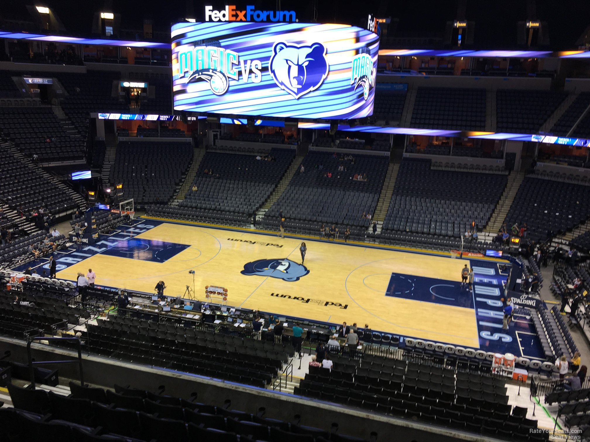 Seat View For Fedex Forum Section P5