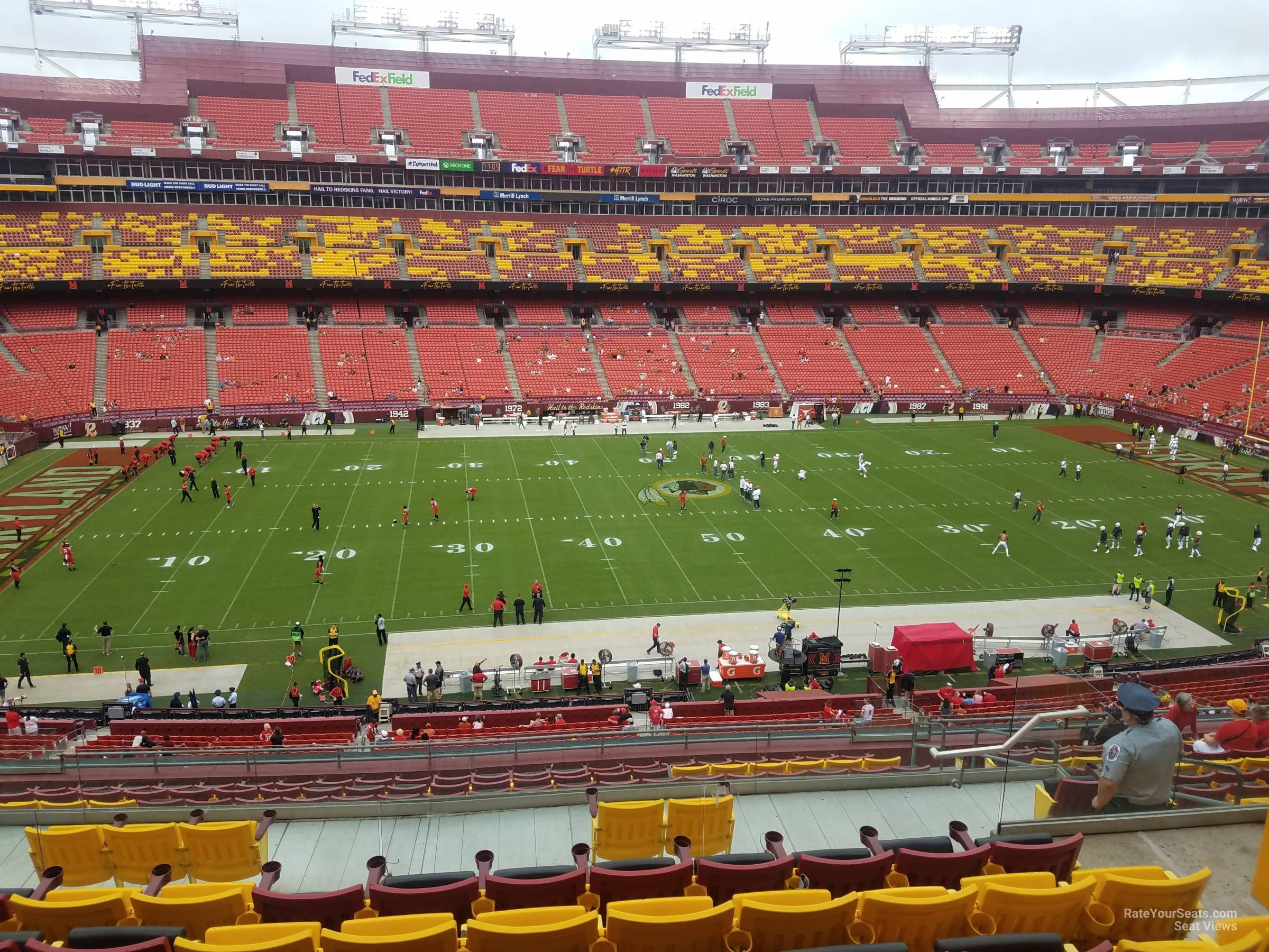 Seat View For Fedexfield Zone A Club 302 Row 16