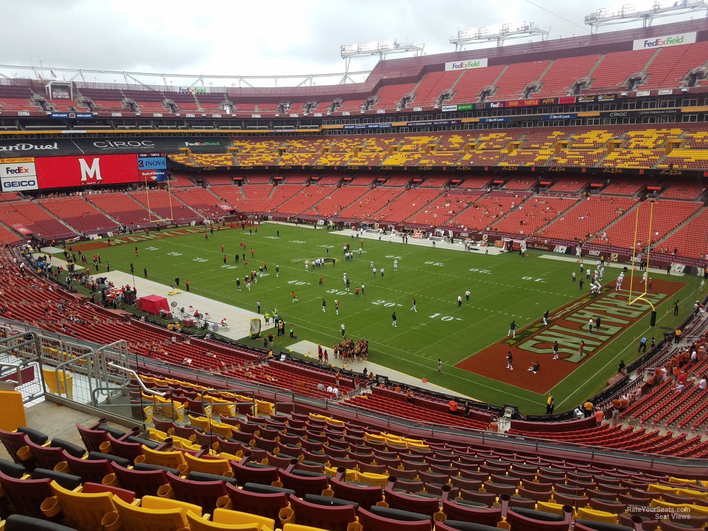 Seat View For Fedexfield Zone D Club 337 Row 16