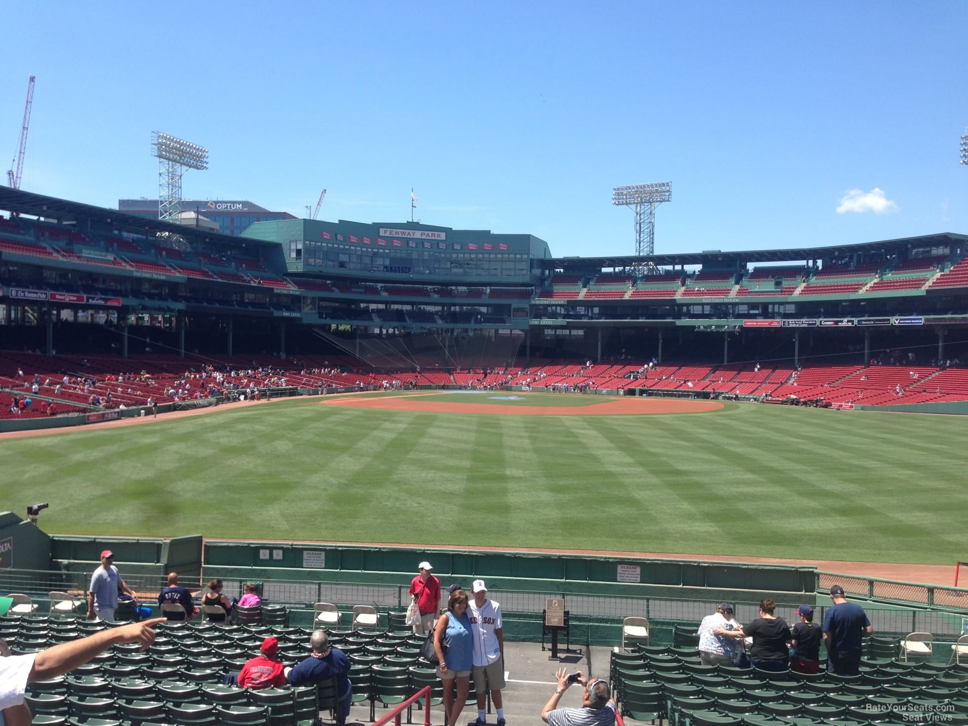 Seat View for Fenway Park Bleachers 40, Row 19