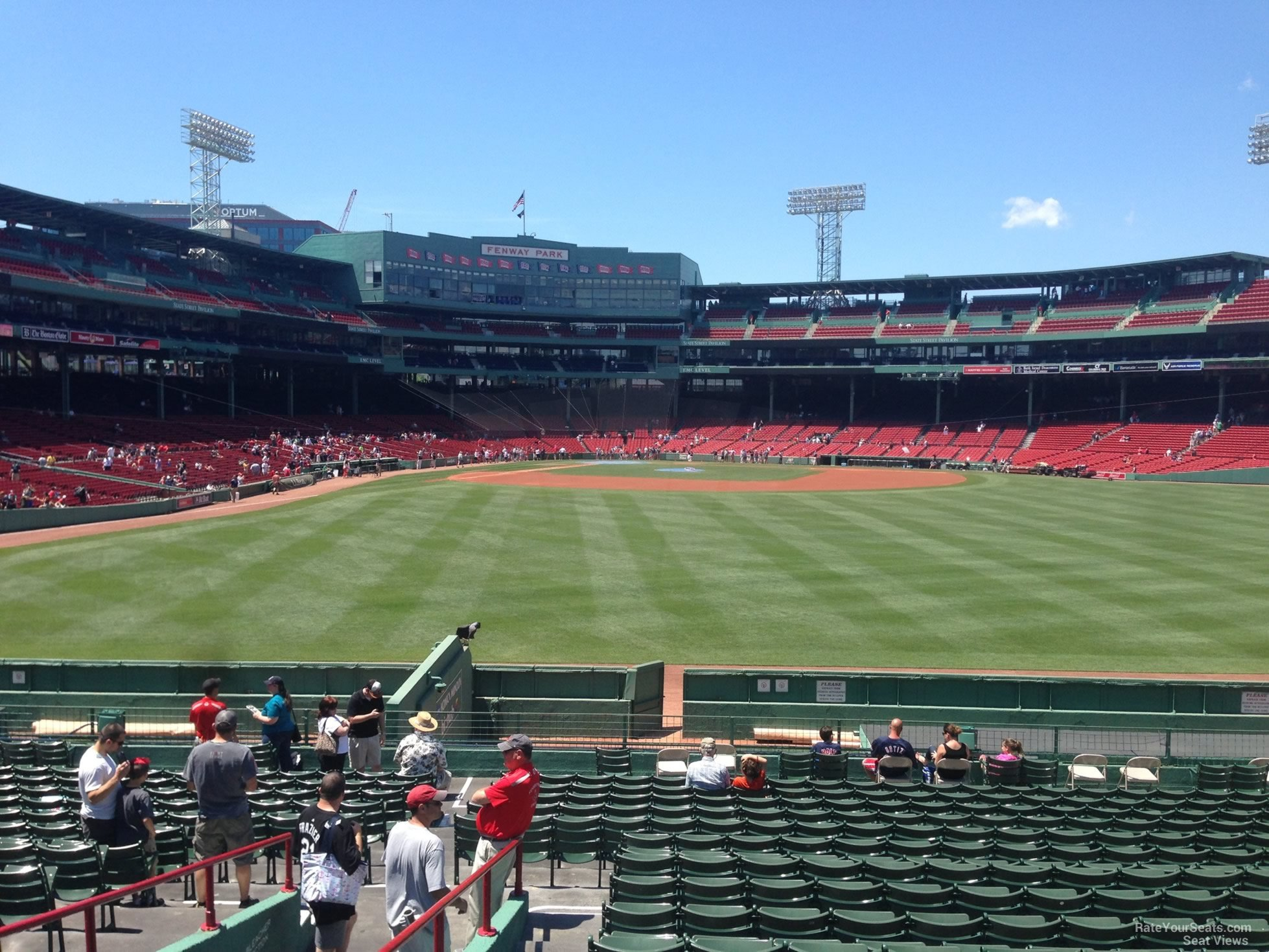 Seat View for Fenway Park Bleachers 41, Row 21