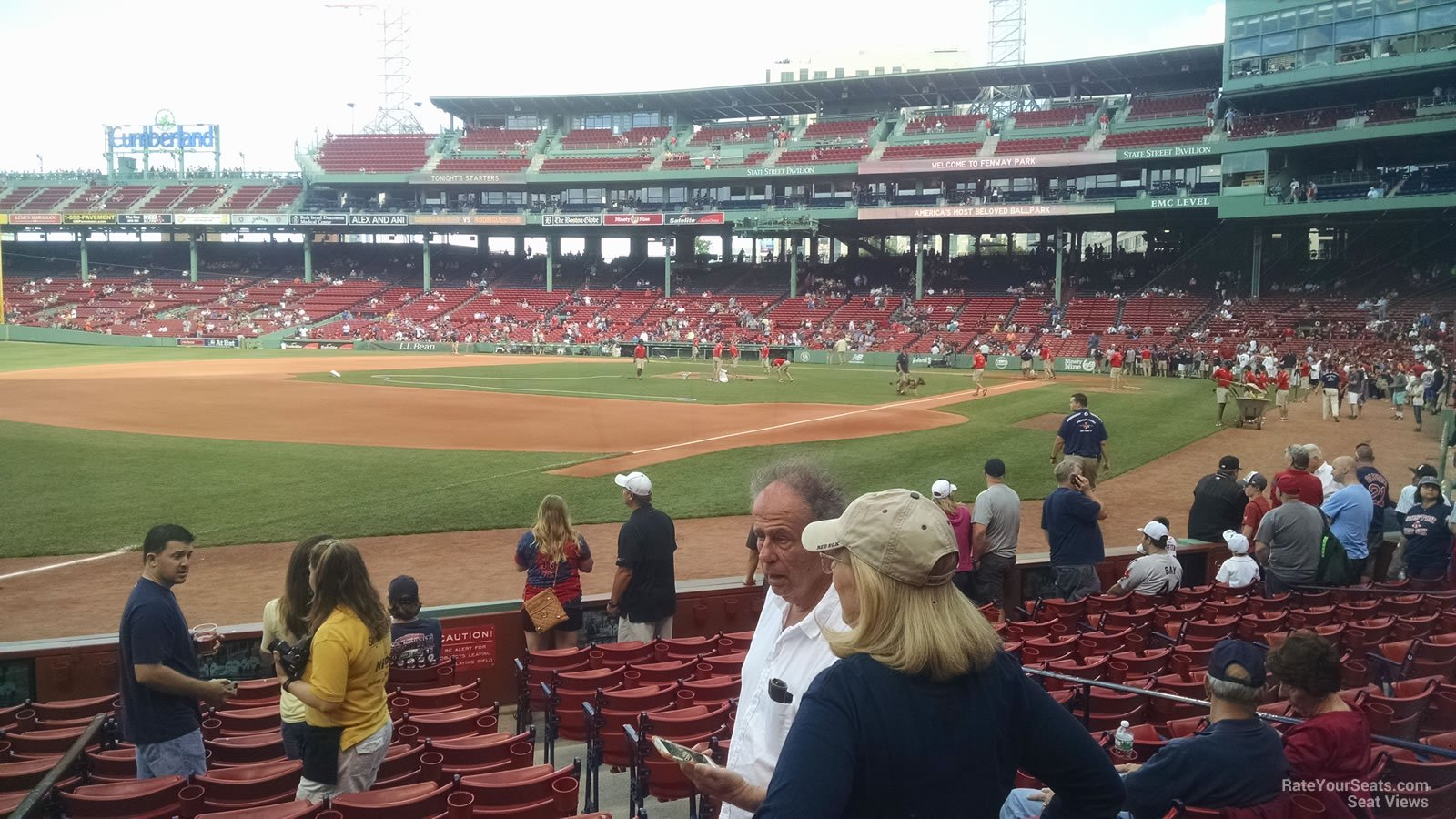 Seat View for Fenway Park Field Box 76