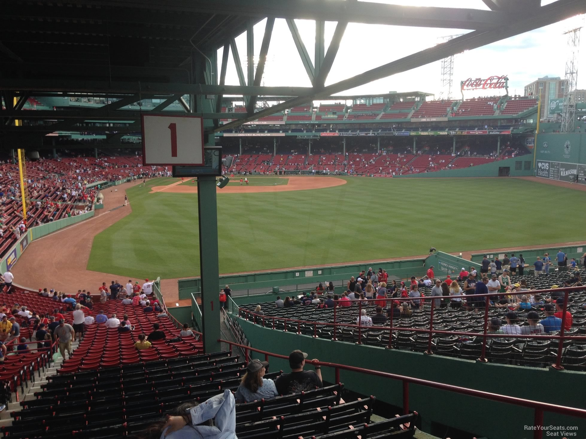 Seat View For Fenway Park Grandstand 1