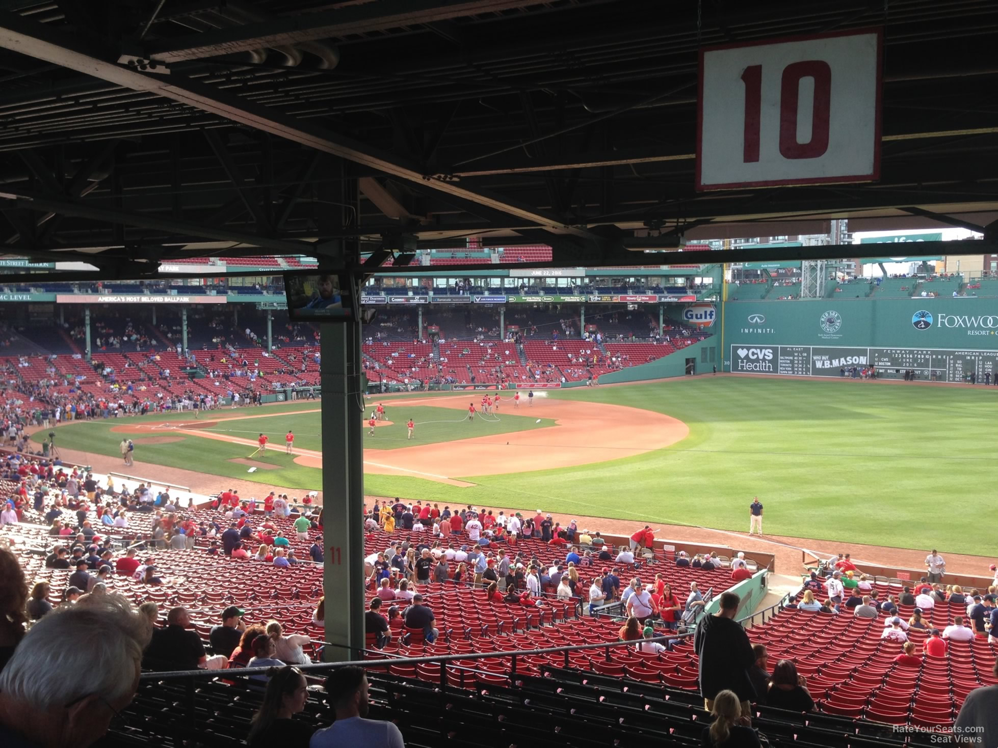 Seat View For Fenway Park Grandstand 10