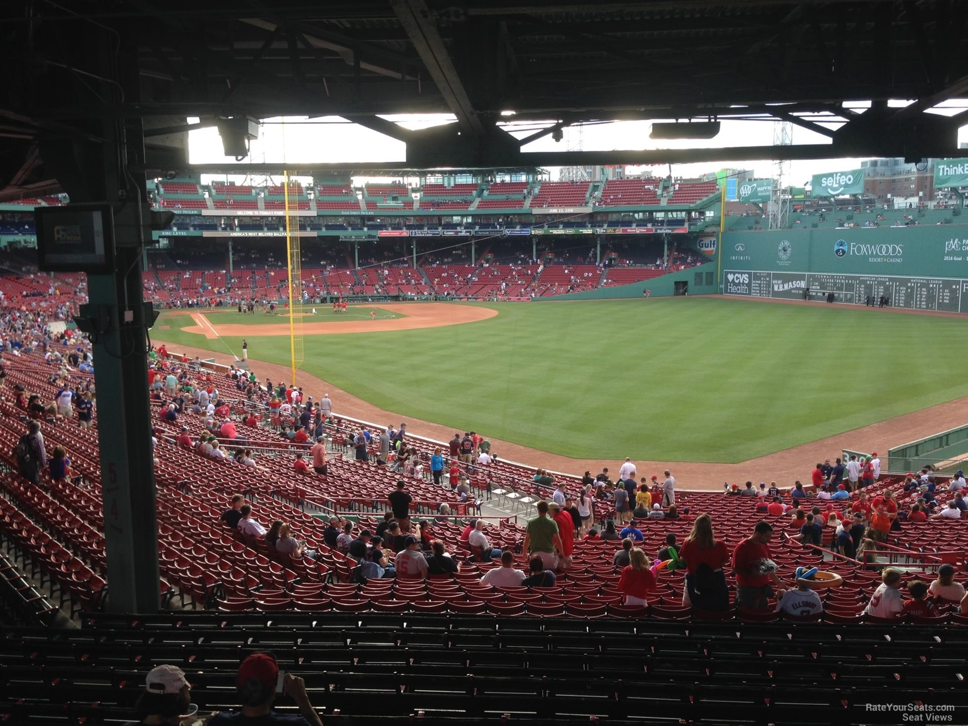 Seat View For Fenway Park Grandstand 4