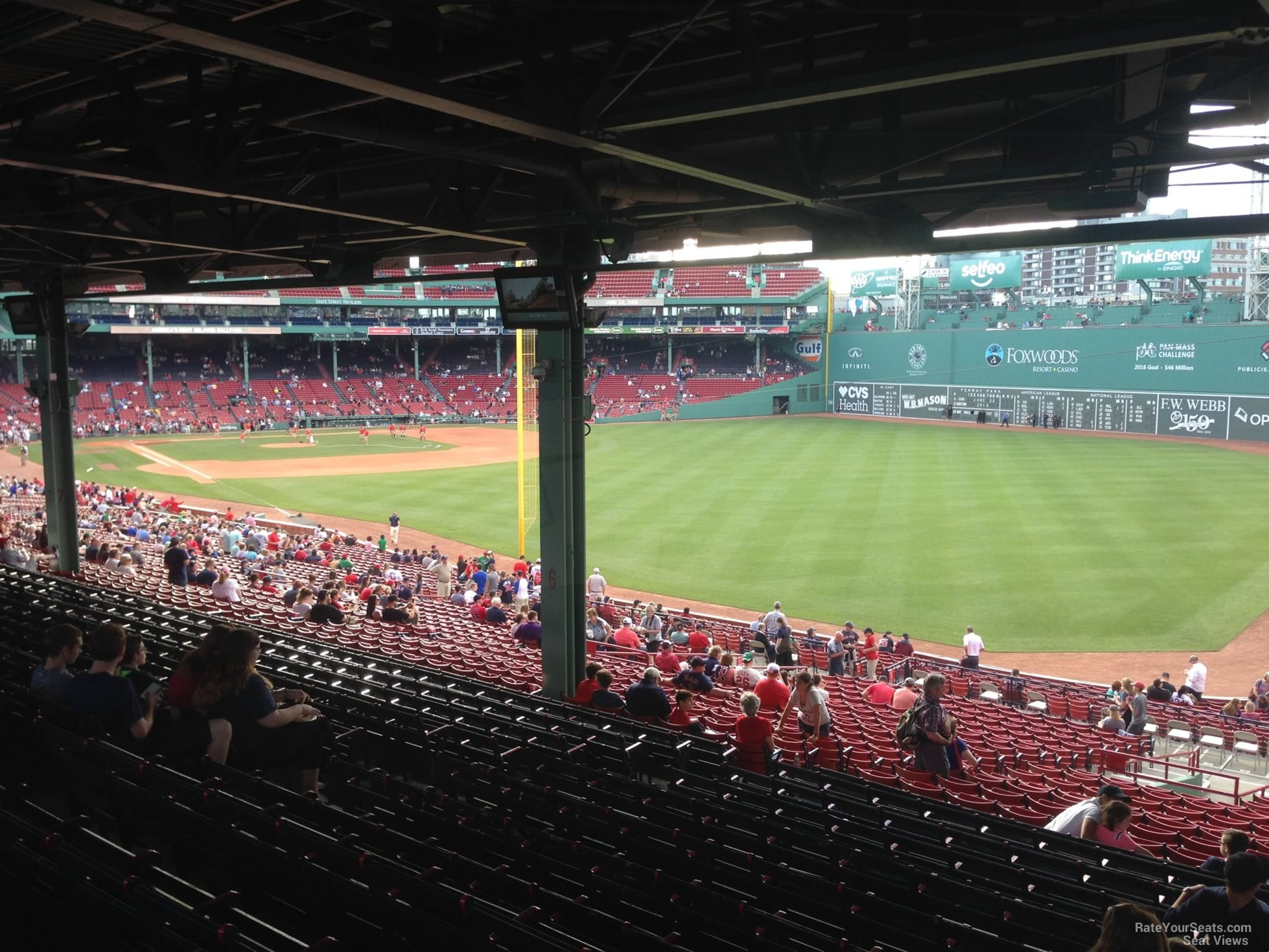 Seat View For Fenway Park Grandstand 5