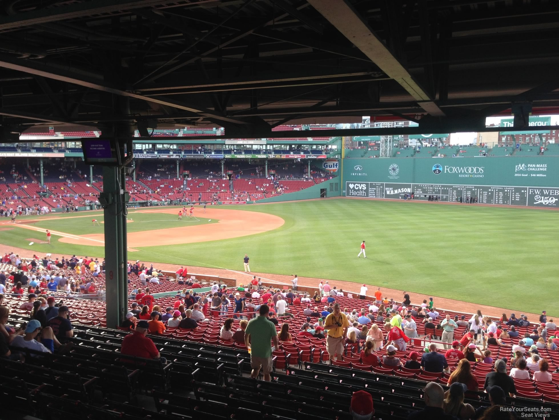 Seat View For Fenway Park Grandstand 8