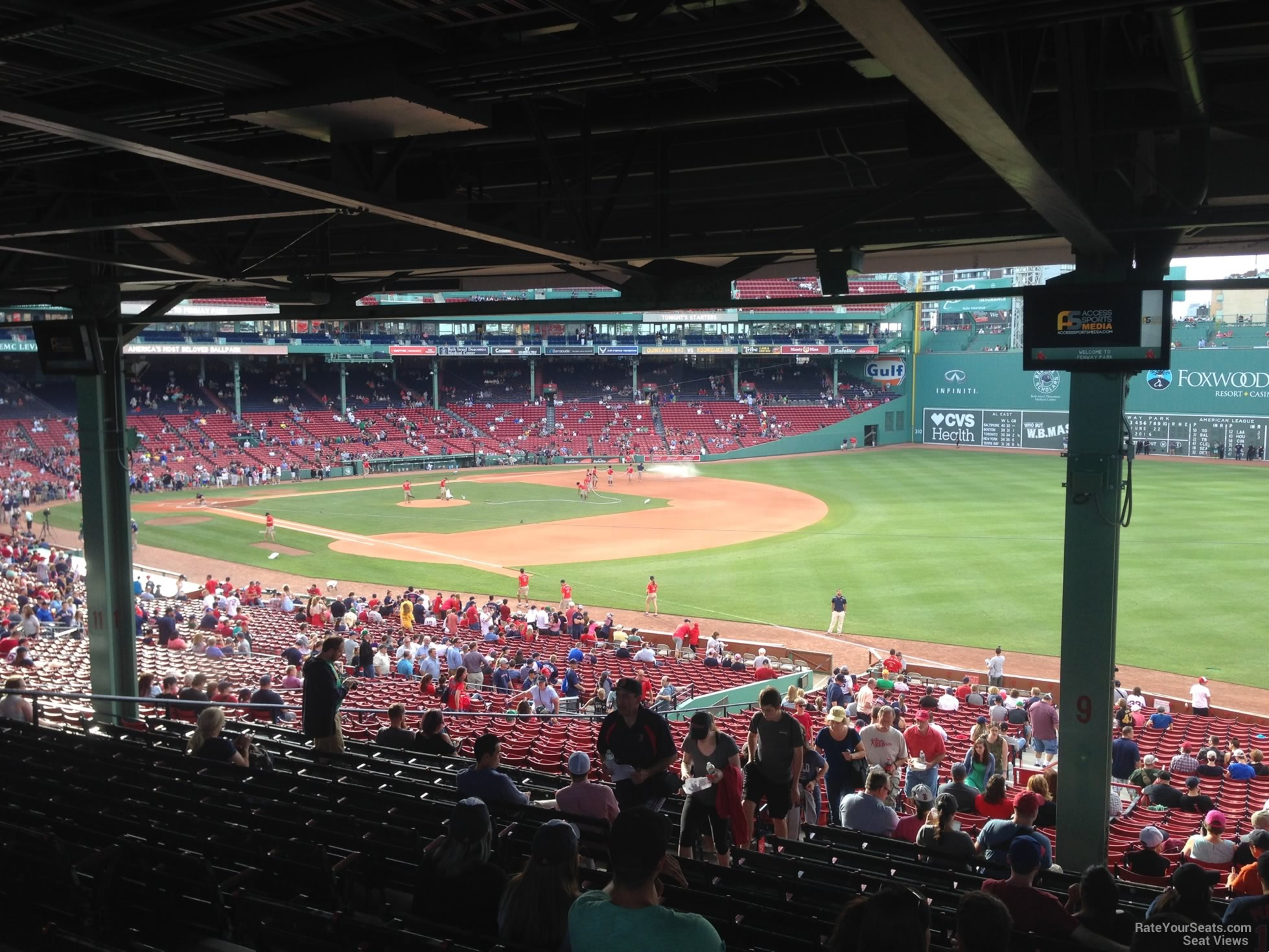 Seat View For Fenway Park Grandstand 9