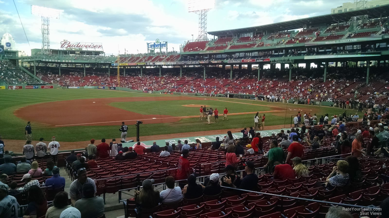 Seat View for Fenway Park Loge Box 155, Row JJ