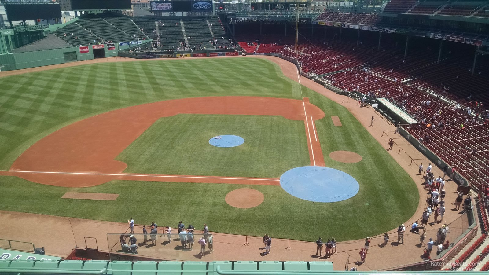 Seat View for Fenway Park State Street Pavilion Club 2, Row 5