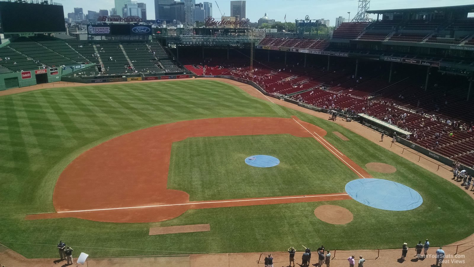 Seat View for Fenway Park State Street Pavilion Club 8, Row 5